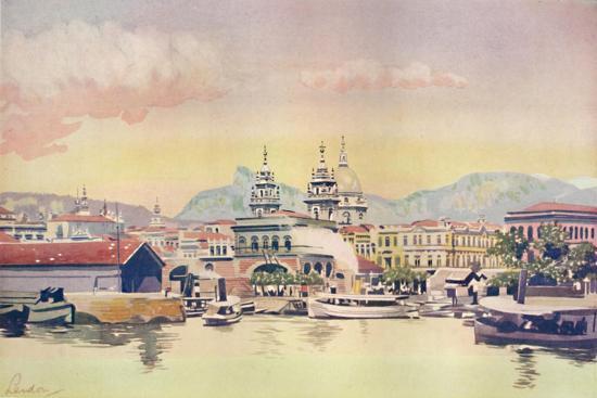 'A Corner of the Rio Customs Wharf', 1914-Unknown-Giclee Print