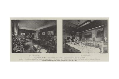 A Coronation Club, Central Rendezvous for Colonial Troops Now in London--Giclee Print