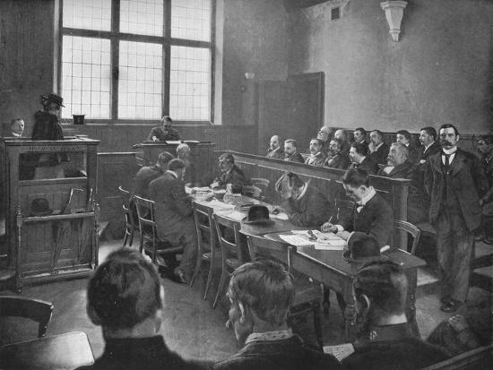 A coroner's inquest, London, c1901 (1901)-Unknown-Photographic Print