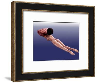 A cosmetic box for storing ointment in the form of a naked female swimmer-Werner Forman-Framed Giclee Print