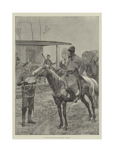 A Cossack Post on the Russo-Afghan Frontier-Richard Caton Woodville II-Giclee Print