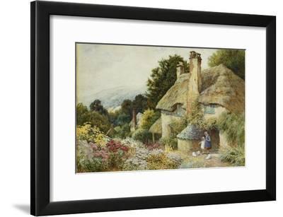 A Cottage at Selworthy, Near Minehead-Arthur Claude Strachan-Framed Giclee Print
