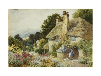 A Cottage at Selworthy, near Minehead-Arthur Claude Strachan-Giclee Print