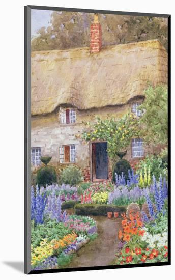 A Cottage Garden in Full Bloom-John Henry Garlick-Mounted Premium Giclee Print