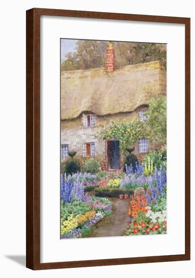 A Cottage Garden in Full Bloom-John Henry Garlick-Framed Giclee Print