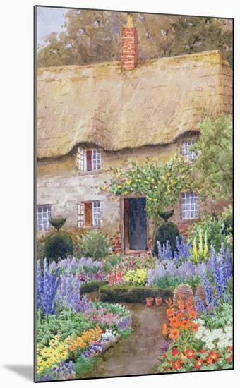 A Cottage Garden in Full Bloom-John Henry Garlick-Mounted Giclee Print