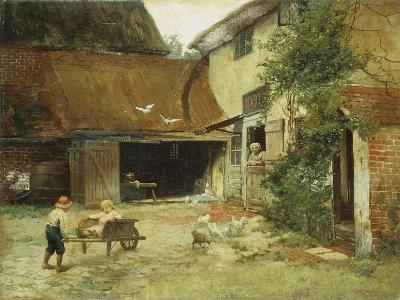 A Cottage in Brooklyn-James Wells Champney-Giclee Print