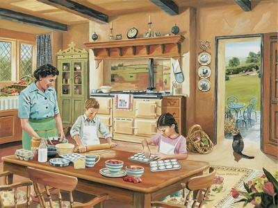 A Cottage Kitchen-Trevor Mitchell-Giclee Print