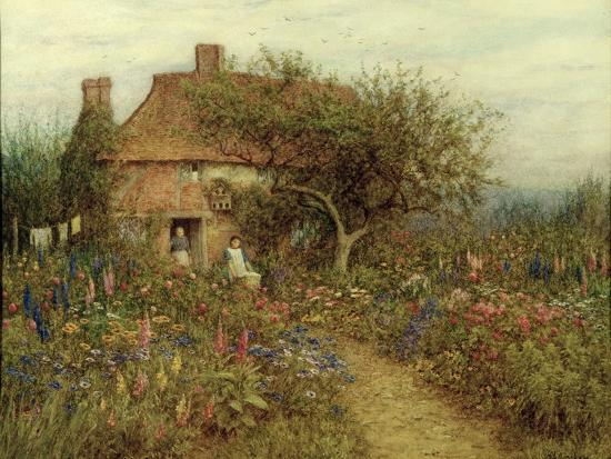 A Cottage Near Brook, Witley, Surrey-Helen Allingham-Giclee Print
