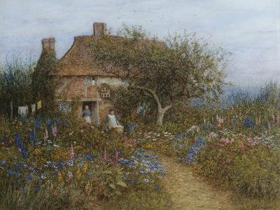 A Cottage Near Brook, Witley, Surrey-Helen Allingham-Giclee Print