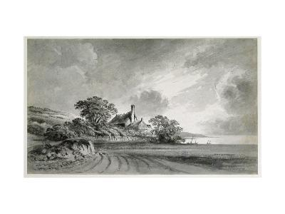 A Cottage Near the Shore of a Lake-John Baptist Malchair-Giclee Print