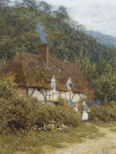 A Cottage Near Witley, Surrey-Helen Allingham-Giclee Print