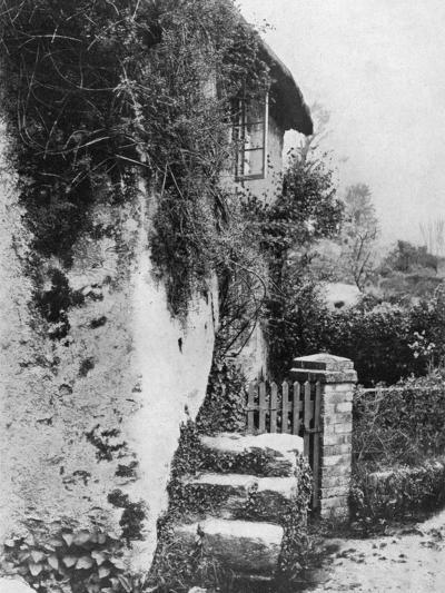 A Cottage with an Ancient 'Upping Stock, Cockington, Devon, 1924-1926-HJ Smith-Giclee Print