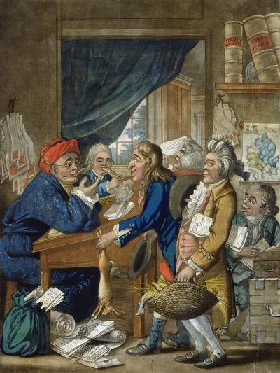 A Country Attorney and His Clients, Pub. by Bowles and Carver, 1800-Robert Dighton-Giclee Print