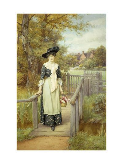 A Country Beauty-Charles Edward Wilson-Giclee Print