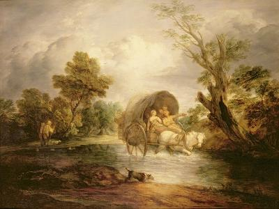 A Country Cart Crossing a Ford, C.1786-Thomas Gainsborough-Giclee Print