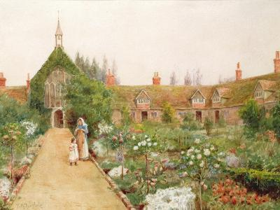 A Country Garden at Bray, Berkshire-Thomas Nicholson Tyndale-Giclee Print