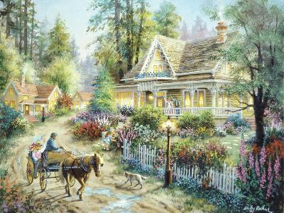 A Country Greeting-Nicky Boehme-Giclee Print