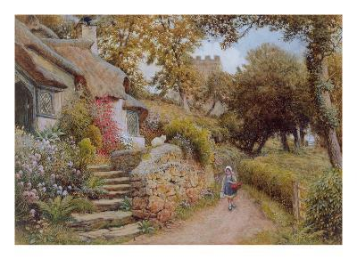 A Country Lane (W/C on Paper)-Arthur Claude Strachan-Giclee Print