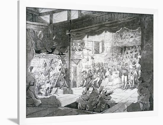 A Country Theatre, 1790-T Wright-Framed Giclee Print