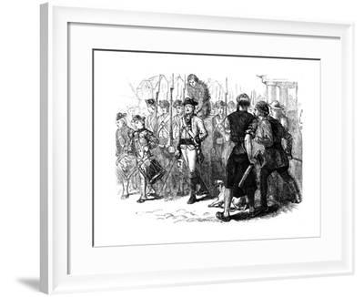 A Countryman Tarred and Feathered, America, C1770S--Framed Giclee Print