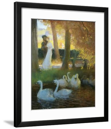 A Couple and Swans-Gaston De Latouche-Framed Giclee Print