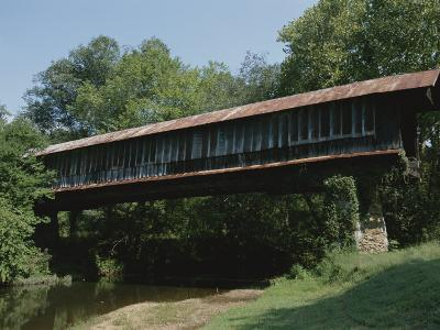 A Covered Bridge in Rural Alabama-Medford Taylor-Photographic Print