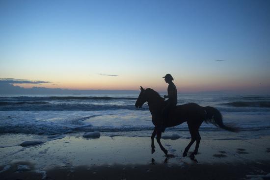 A Cowboy on Virginia Beach, Virginia-Joel Sartore-Photographic Print