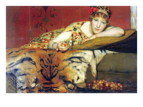 A Craving for Cherries-Sir Lawrence Alma-Tadema-Art Print