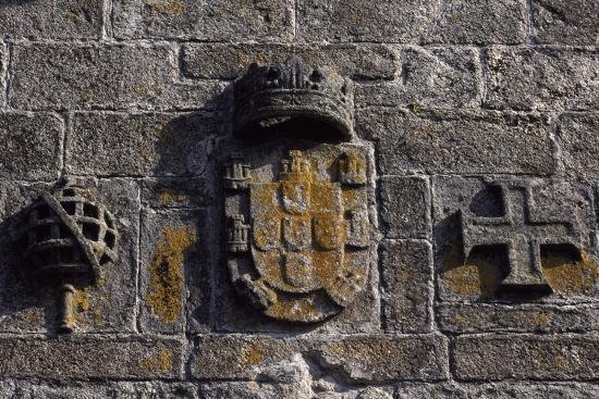 A Crest on Sao Tiago Castle, Viana Do Castelo, Portugal--Giclee Print