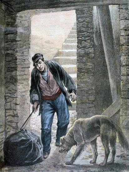 A Crime on the Rue Botzaris, Paris, 1892-F Meaulle-Giclee Print