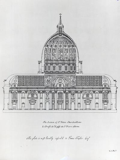 A Cross-Section of St. Peter's Rome--Giclee Print