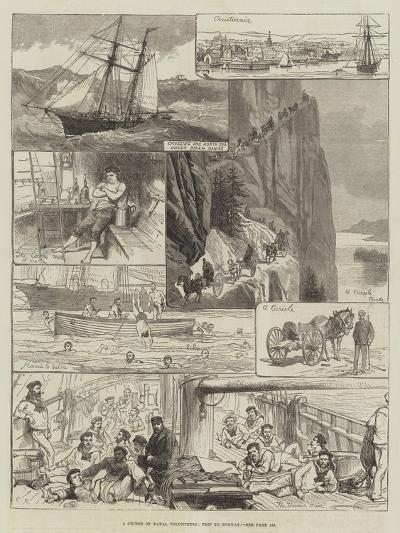 A Cruise of Naval Volunteers, Trip to Norway-Charles Robinson-Giclee Print