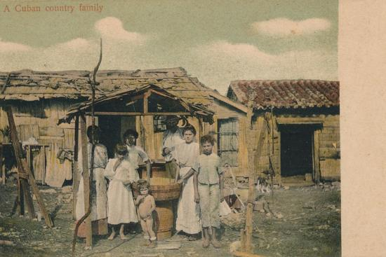 'A Cuban country family', 1908-Unknown-Photographic Print