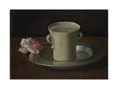 A Cup of Water and a Rose, C.1630-Francisco de Zurbar?n-Giclee Print