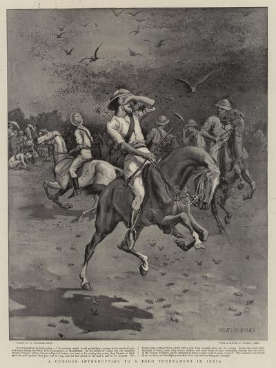 A Curious Interruption to a Polo Tournament in India--Giclee Print
