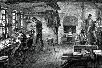 A Cutler's Shop, C1880--Giclee Print