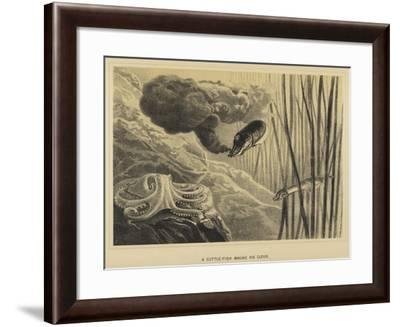 A Cuttle-Fish Making His Cloud--Framed Giclee Print