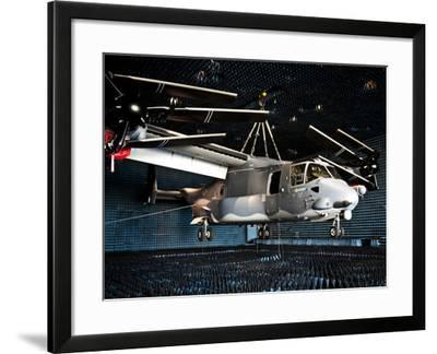 A CV-22 Osprey Hangs in a Anechoic Chamber-Stocktrek Images-Framed Photographic Print