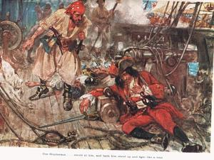 One Stephenson...Bade Him Stand Up and Fight Like a Man, Illustration from  by A.D. McClintock