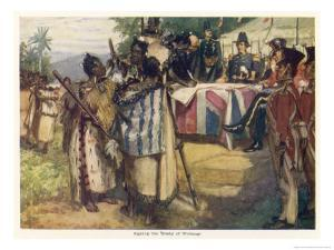 Maori Chiefs Recognise British Sovereignty by Signing the Treaty of Waitangi by A.d. Mccormick