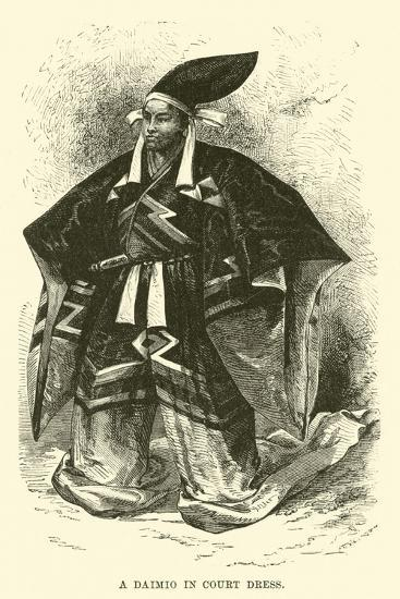 A Daimio in Court Dress--Giclee Print