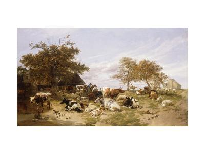 A Dairy Farm on the Marshes, East Kent-Thomas Sidney		 Cooper-Giclee Print