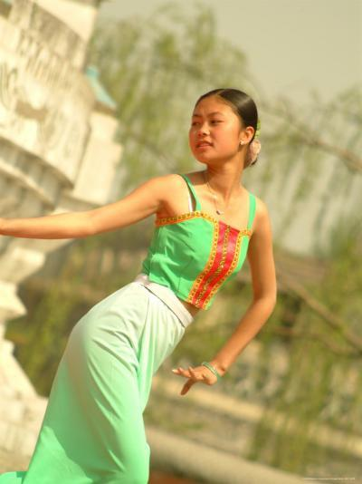 A Dancer Performs at the Chinese Ethnic Culture Park-Richard Nowitz-Photographic Print