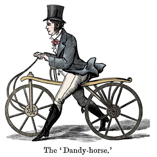 A Dandy-Horse or Draisienne of the type fashionable c1820-Unknown-Giclee Print