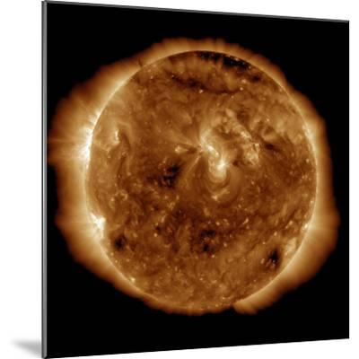 A Dark Rift in the Sun's Atmosphere known as a Coronal Hole-Stocktrek Images-Mounted Photographic Print