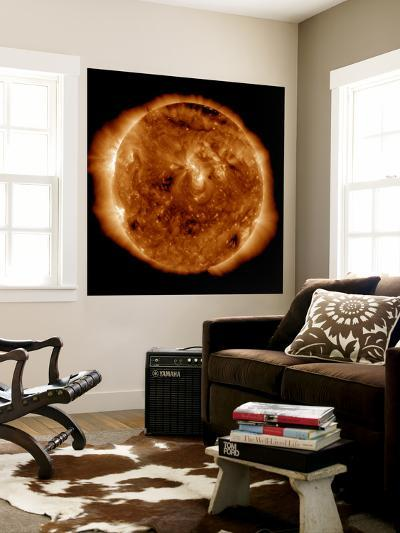 A Dark Rift in the Sun's Atmosphere known as a Coronal Hole-Stocktrek Images-Wall Mural