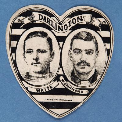 A Darlington Card Featuring Players Waite and Mcgrimmond--Giclee Print