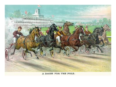 A Dash for the Pole-Currier & Ives-Art Print