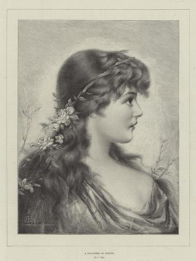 A Daughter of Spring--Giclee Print